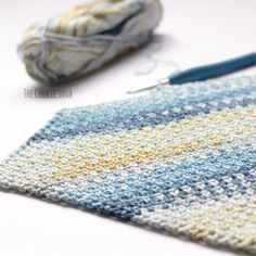 Moss Stitch Tutorial - The Cookie Snob free crochet pattern Crochet C2c Pattern, Crochet Stitches Patterns, Crochet Squares, Baby Knitting Patterns, Free Crochet, Tutorial Crochet, Crochet Tutorials, Free Pattern, Crochet Crafts
