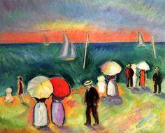 Raoul Dufy - La plage à Sainte-Adresse - 1906