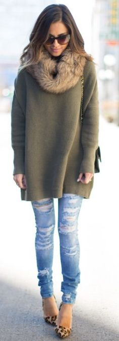 Mia Mia Mine Beige Faux Fur Scarf Street Style Inspo