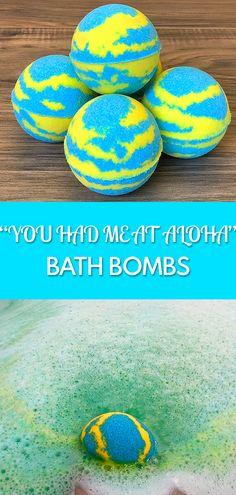 """You Had Me At Aloha"" bath bomb tutorial."
