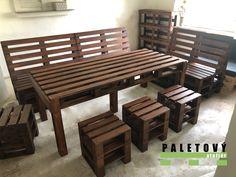 Jídelní stůl z palet Outdoor Furniture, Outdoor Decor, Pergola, Bench, Pallets, Table, Homemade, Business, Garden