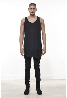 Distressed Vest / Jet Black