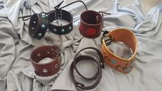 Genuine leather Cuffs from Leathers by Juanita are all hand made and one of a kind. Stock will change frequently. Order using corresponding numbers. Made in Calgary, Alberta Canada.