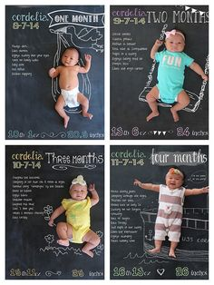DIY Monthly Baby Chalkboard Photos
