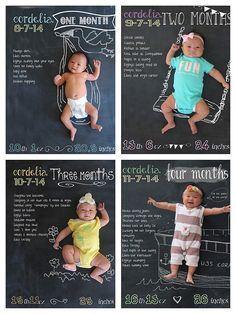 DIY Monthly Baby Chalkboard Photos