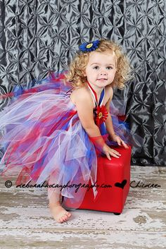 Patriotic Red White Blue Tutu Dress Military by sweethearttutus
