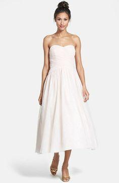 Monique Lhuillier Tulle Tea-Length Dress on shopstyle.com