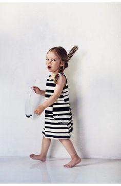 AARREKID striped dress from www. Toddler Girl Style, Toddler Fashion, Kids Fashion, Fashion Fashion, Anna Lu, Young Fashion, Little Girl Fashion, Kid Styles, Girls Wear