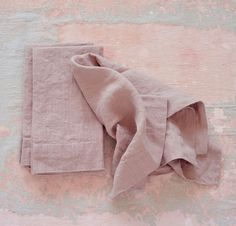 Linen Napkins | Rough Linen - Beautiful 100% pure linen napkins - Dusk Pink