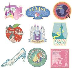 ,Disney Travel Sticker Disney Princess Nine set,Collectible listed at CDJapan…