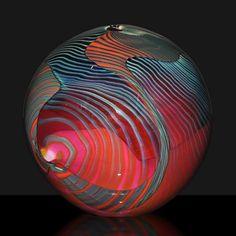"Peter Layton Fine Art Glass ""Pink Paradiso"" Globe"