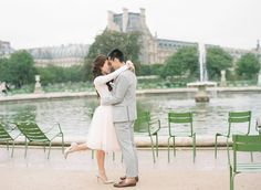 Rainy day engagement on a quiet day in Paris via Magnolia Rouge
