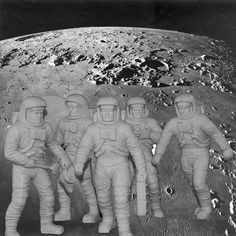 Astronauts first stepped on the moon