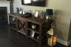 Rustic X Console Entertainment Center built by CCWoodworkCreations on Etsy.   https://www.etsy.com/shop/CCWoodworkCreations