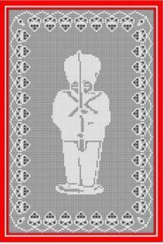 Digital PDF Filet Crochet Pattern Nutcracker by CrochetMyStyle
