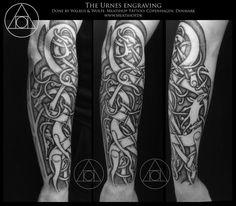 The Urnes engraving by UffeBerenth Traditional Art / Body Art / Body Modification / Tattoos©2015 UffeBerenth #balder #black #brother #classic #copenhagen #design #frey #freya