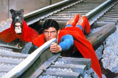 """Lily and Superman prevent a train crash"". Photo Manipulation. 2012."