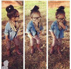 una pinta preciosa para pequeña fashionista