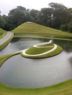 Charles Jenck's Garden of Cosmic Speculation was apparently inspired by mathematics and science - more specifically, subatomic particles, the diversity of DNA, string theory, the Big Bang and the expansion of the universe - and was even the subject of an orchestral composition by American composer Michael Gandolfi. The garden is private, but can be visited by the public on Scotland's Gardens Scheme open days, which are held to raise money for the cancer charity Maggies.