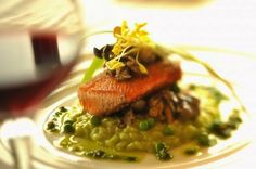 The Recipes of Disney: Salmon and English Pea Risotto with Spring Ramps- California Grill