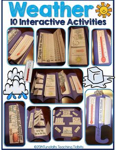 weather, weather book, teaching weather, weather activities, weather lessons, weather foldable