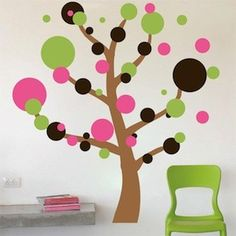 Polka Dot Tree - kids room