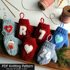 This listing is for a KNITTING PATTERN for the Felt Applique Mitten Christmas Ornament. I love making Christmas ornaments for my family and