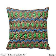 Strange colorful pattern throw pillows