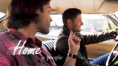 """""""SPNHiatusCreations ↳ Week one: You now what? """" """"Home is people. Not a place. If you go back there after the people are gone, then all you can see is what is not there anymore. Winchester Boys, Winchester Brothers, Supernatural Tv Show, Supernatural Seasons, Two Brothers, Tv Episodes, Destiel, My People, Family Business"""