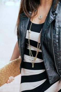 STYLE TIP- Swap out a statement necklace and  layer up necklaces instead | STYLE'N
