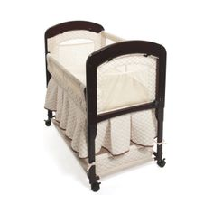 Free shipping within Australia!  The deluxe, fashionable Cambria Co-Sleeper Bassinet has a solid timber frame and beautiful quilted liner in natural colour and fits adult beds of 61 cm to 76 cm with built in extension legs. The dimensions are  86 x 50 x 79 cm, it weights 12 kg and includes a skirt around the bassinets storage area  The Cambria liner is removable to allow for easy laundering, and also comes with a water-resistant mattress and 1 fitted sheet.  For infants from birth to 5 ...