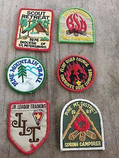 Vintage Boy Scout Badges Lot of 6 1974-1983 JLT Diocese Flint River