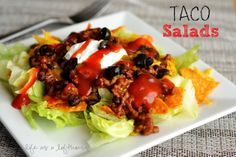 Taco Salads - Life In The Lofthouse