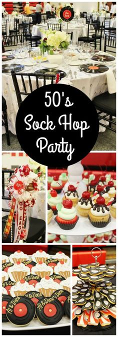 Love this 50's sock hop for a 50th anniversary party!: