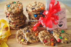 Biskut M&M Oats Monster / Monster Cookies | Resipi Citarasawan