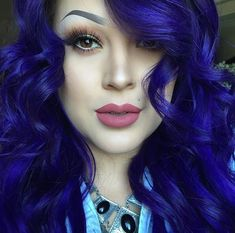 Cobalt blue hair