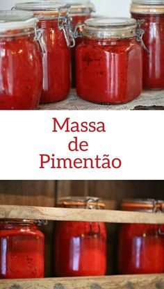 Massa de Pimentão is a classic Portuguese red pepper paste that is often used to season just about any ingredient with loads of flavor, most typically before roasting or grilling. Canning Recipes, Wine Recipes, Portuguese Recipes, Portuguese Food, Portuguese Culture, Spanish Recipes, Red Pepper Paste, Pickles, Paste Recipe