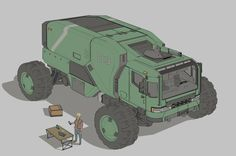 ArtStation - Expedition truck, Timo Kujansuu
