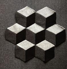 3 Dimensional Diamond Blanket ~ free pattern via Ravelry