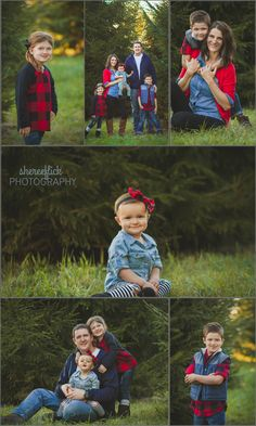 Sheree Flick Photography-family pictures-family of 5-Christmas Tree farm-red buffalo plaid