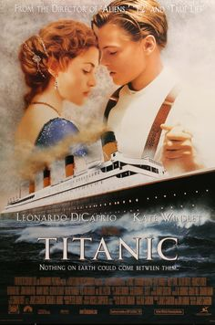 A classic Titanic movie poster! Leonardo DiCaprio and Kate Winslet star in the Oscar-winning love story. Check out the rest of our excellent selection of Titanic posters! Titanic Movie Poster, Film Titanic, Movie Posters, Titanic Sinking, See Movie, Film Movie, Epic Movie, Leonardo Dicaprio, Old Movies