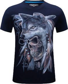 T Shirt Hommes Manches courtes Crâne Tigre Loup Lion Serpent T-shirt Imprimé T-shirt Homme 2017 Marque Hip Hop Clothing 3d T Shirts, Branded Shirts, Cool T Shirts, Cotton Shirts, T Shirt Top, Shirt Men, Tee Shirt, Shirt Print, Animal Print Tees