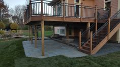 IPE deck, stairs and paver patio