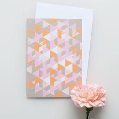 "Kort&Gott Greeting Card   Envelope ""Triangles"" Triangles, Paper Goods, Envelope, Greeting Cards, Graphic Design, Shop, Envelopes, Visual Communication, Store"
