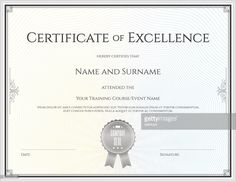 Pin By Certificate Template On Certificate Of Excellence