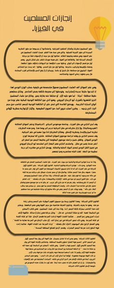 إنجازات المسلمين في الفيزياء   IslamicInfoDesign