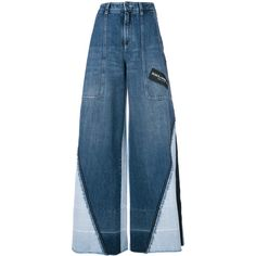 Shop now Dolce & Gabbana panelled wide leg jeans for at Farfetch UK. Dolce And Gabbana Jeans, Dolce E Gabbana, Wide Leg Jeans, High Waist Jeans, Blue Jeans, Ropa Upcycling, Stage Outfits, Fashion Outfits, Summer Jeans