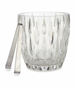 Marquis by Waterford Rainfall Ice Bucket by Marquis By Waterford. $99.00. Material: crystal. Rainfall. Ice Bucket. Do not turn upside down while drying or storing. Fine crystal should be hand washed separately in warm soapy water rinsed thoroughly and dried with a lint free cloth; We do not recommend using a dishwasher to clean your crystal as it can dull and damage the surface. Transitional design with heavy vertical cuts, the Rainfall Crystal Collection featur...