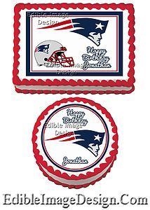 NEW ENGLAND PATRIOTS NFL Edible Birthday Party Cake Image Cupcake Topper Favor