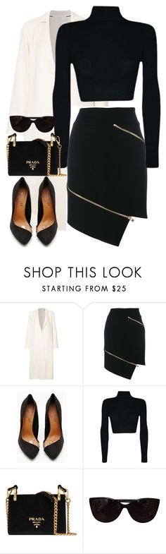 """Untitled #1168"" by fashionmodelstyle ❤ liked on Polyvore featuring Cyclas, Alexandre Vauthier, Shoe Cult, Prada and Tiffany & Co."